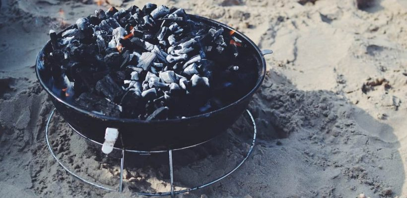 charcoal in charcoal grill