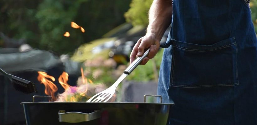 guy grilling outdoors